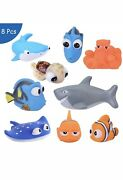 Baby Bath Toys Dory Finding Nemo Squeeze Soft Spray Water Float Toys Set 8
