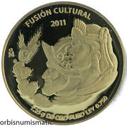 2011 Mexico 1/20 Oz Bullion Coinage 750 Gold Very Rare Low Mintage Proof Z414