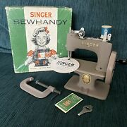 Vntg 1950s Singer Childs Sewhandy Sewing Machine Orig Box Clamp + Needles Usa
