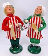 Byers Choice Boy And Girl Baking Cookies Carolers 2011 9