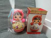 Vintage Roly Poly Japan Celluloid Baby Musical Toy Doll 11
