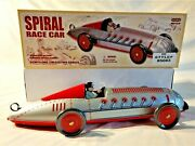 Schylling - Tin Toy Spiral Race Car - Collectors Series - No 1 - Silver - 2007