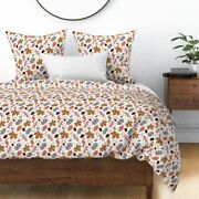 Autumn Leaves Fall Seasonal Maple Pinecones Trees Sateen Duvet Cover By Roostery