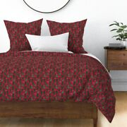 Christmas Cactus Cacti Xmas Holiday Sateen Duvet Cover By Roostery