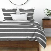 Large Grey Stripes Stripes Stripe Little Arrow Sateen Duvet Cover By Roostery