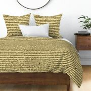 Text Ancient Parchments Script Medieval Spells Sateen Duvet Cover By Roostery