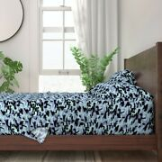 Camo Army Military Camouflage Blue 100 Cotton Sateen Sheet Set By Roostery