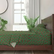 Dachshund Doxie Dog Hound Christmas 100 Cotton Sateen Sheet Set By Roostery