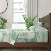 Watercolor Large Scale Decor Marble 100 Cotton Sateen Sheet Set By Roostery