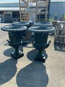 Great Victorian Style Estate Cast Iron Urns - Rs023e