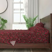 Christmas Cactus Cacti Xmas Holiday 100 Cotton Sateen Sheet Set By Roostery