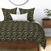 Camouflage Military Army Soldier Uniform Camo Sateen Duvet Cover By Roostery