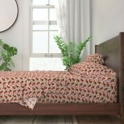 Doxie Dog Pink Dogs Florals Dachshund 100 Cotton Sateen Sheet Set By Roostery