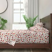 Holiday Dachshund Doxie Dog Christmas 100 Cotton Sateen Sheet Set By Roostery