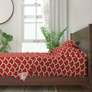 Fruit Summer Cookout Barbecue 100 Cotton Sateen Sheet Set By Roostery