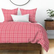 Rustic Holiday Christmas Farmhouse Plaid Tartan Sateen Duvet Cover By Roostery