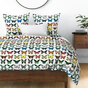 Butterfly Collection Bug Insect Wings Butterflies Sateen Duvet Cover By Roostery