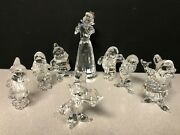 Crystal Complete Set Of Disney Snow White And The Seven Dwarfs