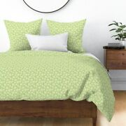 Daisies Green Plaid Check Summer Flower Floral Sateen Duvet Cover By Roostery
