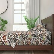 Moth Wings Bug Insect Collection Earth 100 Cotton Sateen Sheet Set By Roostery