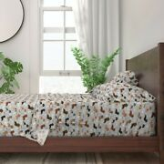 Dachshund Dog Doxie Coastal Beach 100 Cotton Sateen Sheet Set By Roostery