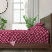 Dog Doxie Dachshund Damask 100 Cotton Sateen Sheet Set By Roostery