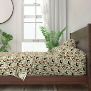 Dachshund Doxie Dachsie Dog Dogs Tiki 100 Cotton Sateen Sheet Set By Roostery