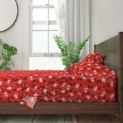 Christmas Pinecones Conifers Woodland 100 Cotton Sateen Sheet Set By Roostery