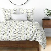 Crossed Lacrosse Sticks Sports Native Patterns Sateen Duvet Cover By Roostery