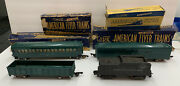 Lot Of 4 American Flyer Lines Vtg Train Cars New Haven 650 651 Tandp 631 And Coal