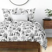 Witch Trails Toile Vintage Witches Civil Rights Sateen Duvet Cover By Roostery
