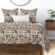 Moth Wings Bug Insect Collection Earth Tones Sateen Duvet Cover By Roostery