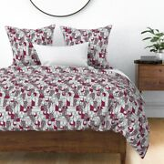 Vinho Wine Kitchen Cocktails Grapes Sateen Duvet Cover By Roostery