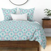 Cycling Wheels Bike Hearts Geometric Sateen Duvet Cover By Roostery