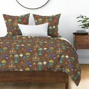 Victorian Era Lights Brown Light Fixtures Lamps Sateen Duvet Cover By Roostery