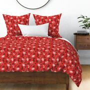 Christmas Pinecones Conifers Woodland Vintage Sateen Duvet Cover By Roostery