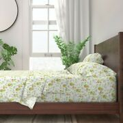 Watercolor Fruit Whimsical Pear Food 100 Cotton Sateen Sheet Set By Roostery
