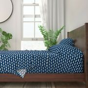 Great Pyrenees Dog Blue Dogs Cute Navy 100 Cotton Sateen Sheet Set By Roostery