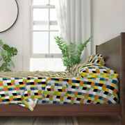Chevron Books Zig Zag Arrows Library 100 Cotton Sateen Sheet Set By Roostery