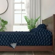Puffer Fish Nautical Blow Silver Powder 100 Cotton Sateen Sheet Set By Roostery