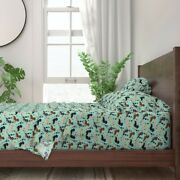 Dachshund Doxie Dog Dogs Wine Bubbly 100 Cotton Sateen Sheet Set By Roostery
