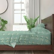 Mid Century Mod Lava Lamps Stripes Mint 100 Cotton Sateen Sheet Set By Roostery
