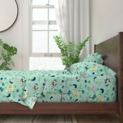 Florida Vintage Retro Tropical Palm 100 Cotton Sateen Sheet Set By Roostery