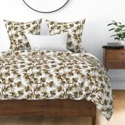 Pine Pinetree Nature Pine Cones Pinecones Sateen Duvet Cover By Roostery