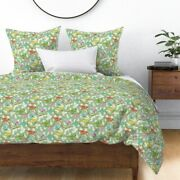 Vintage Christmas Glass Bird Ornaments Bird Sateen Duvet Cover By Roostery