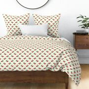 Yellow Kitchen Vintage 40s 50s Cherry Cherries Sateen Duvet Cover By Roostery