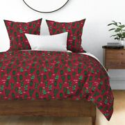 Cactus Cacti Christmas Christmas Cactus Holiday Sateen Duvet Cover By Roostery