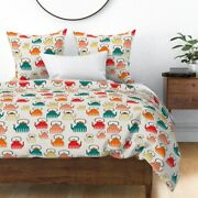 Teapots Kitchen Retro Modern Pattern Food Cute Sateen Duvet Cover By Roostery