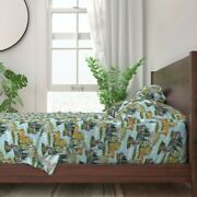 Painting Paint Number Vintage Woodland 100 Cotton Sateen Sheet Set By Roostery