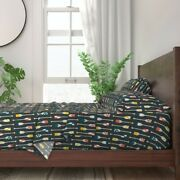 Rowing Oars Canoe Paddle Team Crew 100 Cotton Sateen Sheet Set By Roostery
